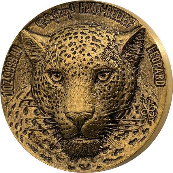 1 Unze Gold Elfenbeinküste Big Five Leopard 2021