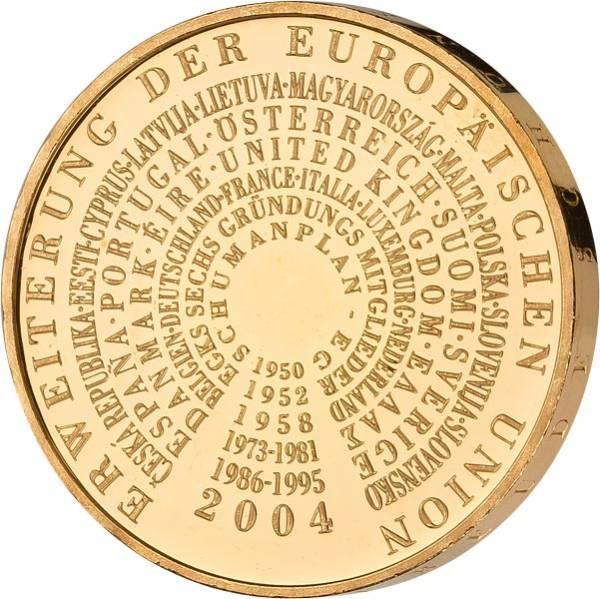 10 Euro BRD Erweiterung der Europäischen Union 2004 vollvergoldet