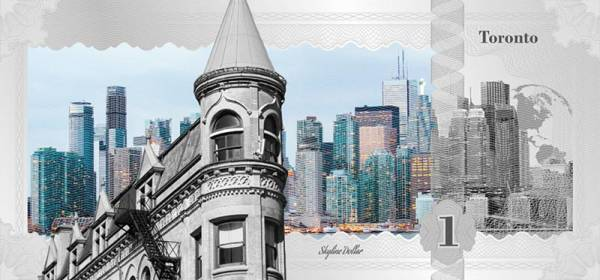 1 Dollar Cook-Inseln Skyline-Dollar Toronto 2017
