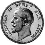 2 Mark Lippe Detmold Leopold IV. 1906 Vorzüglich