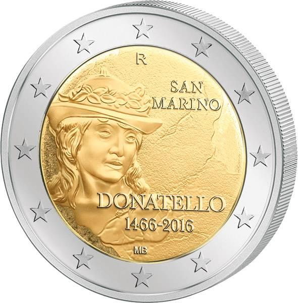 2 Euro San Marino 550. Todestag von Donatello 2016 prägefrisch