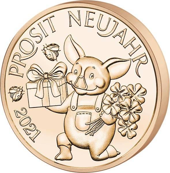 Glücksjeton Schweinchen Kurti 2021