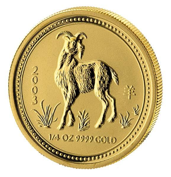 1/4 Unze Gold Australien Jahr der Ziege 2003