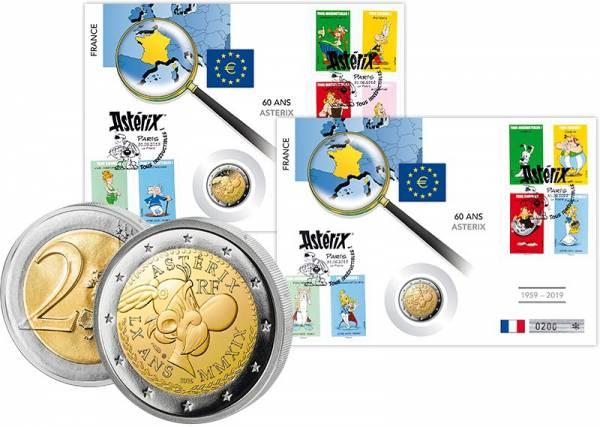 2 Euro Numisbrief Frankreich 60 Jahre Asterix 2er-Set 2019