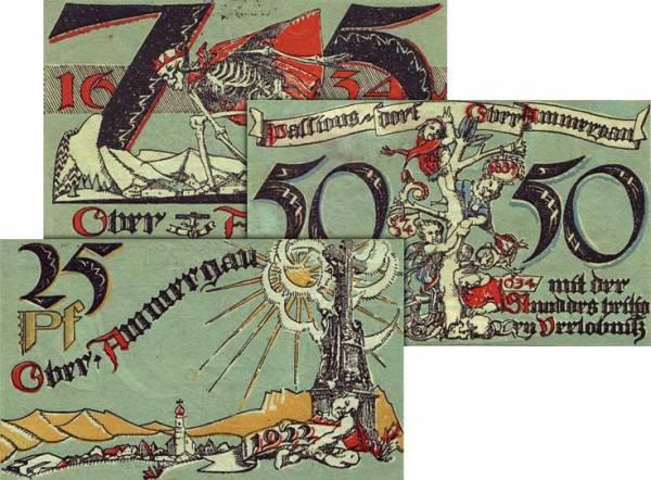Banknotenserie Oberammgau Notgeldserie 1921