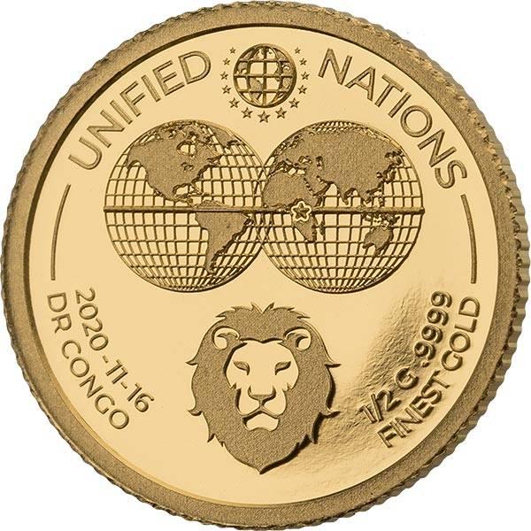 10 Francs Kongo Löwe 2020