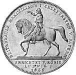 Taler Geschichtsdoppeltaler Ludwig I 1839  vorzüglich