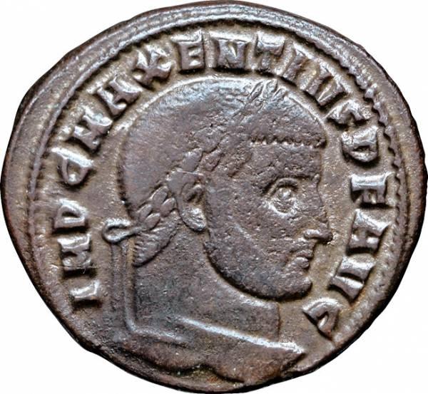 Follis Maxentius 306-312 n.Chr. Sehr schön