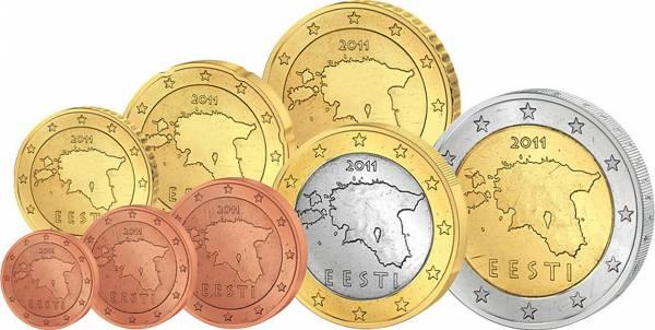 Euro-Kursmünzensatz Estland