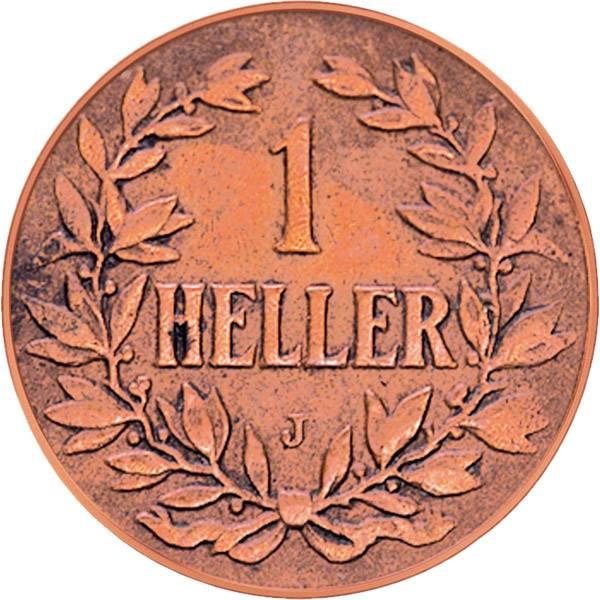 1 Heller Deutsch Ostafrika Kaiserkrone 1904-1913 Sehr schön