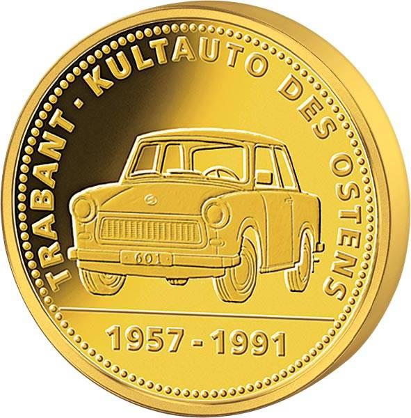 Gedenkprägung 60 Jahre Trabant Kultauto des Ostens