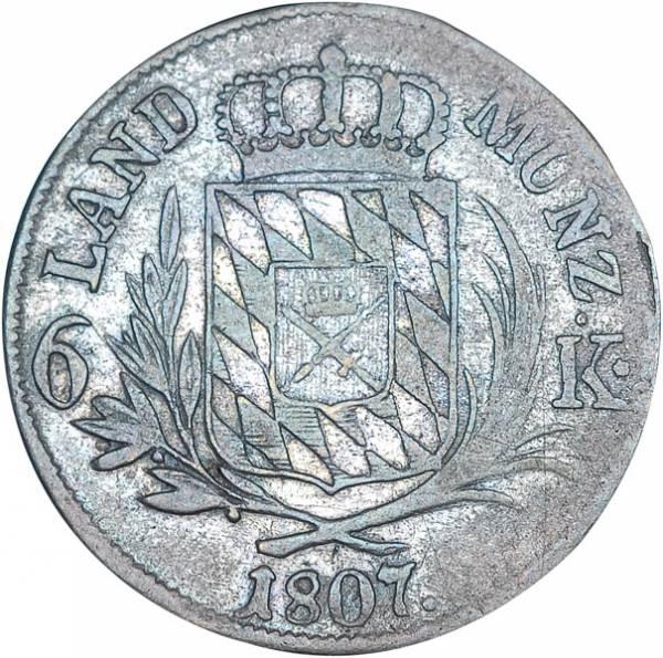 6 Kreuzer Bayern König Maximilian I. Joseph 1806 - 1825