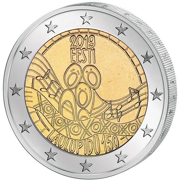 2 Euro Estland 150. Jahrestag des ersten nationalen Liederfestes 2019