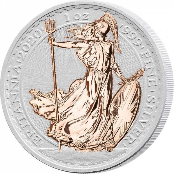 2 Pounds Großbritannien Britannia 2020 mit Keramikveredelung