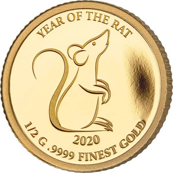 500 Kip Laos Jahr der Ratte 2020
