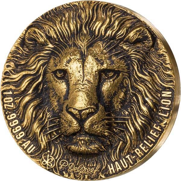 1 Unze Gold Elfenbeinküste Mauquay Löwe 2020