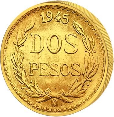 2 Pesos Mexiko Staatswappen