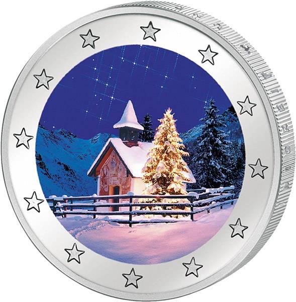 2 Euro BRD Dresdner Zwinger mit Farb-Applikation Weihnachten 2016