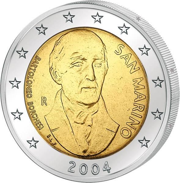 2 Euro San Marino Bartolomeo Borghesi 2004
