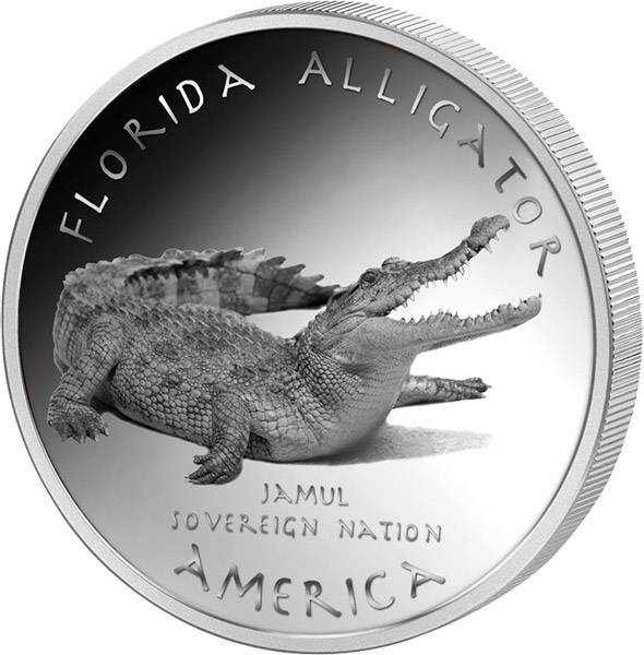 1 Dollar USA Florida Seminole Alligator 2016   Polierte Platte (PP)