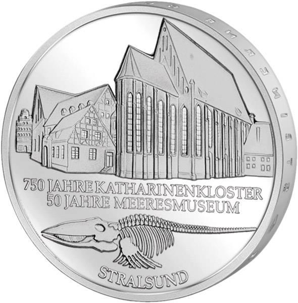 10 DM BRD  800 Jahre Stralsund  2001 Unsere Wahl vorzüglich