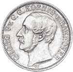 1/6 Taler Hannover König Georg V. 1859-1863 ss-vz
