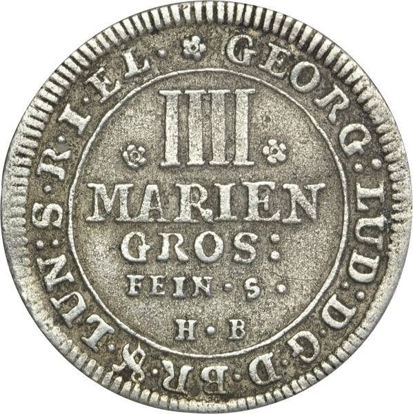 4 Mariengroschen Braunschweig Calenberg Hannover St. Andreas 1707-1708