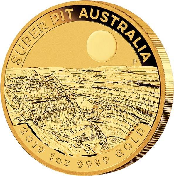 1 Unze Gold Australien Super Pit Goldmine 2019