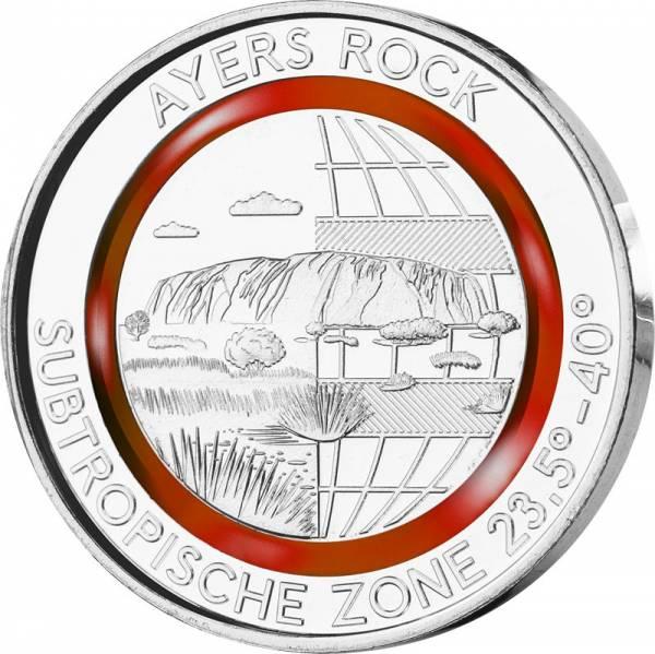 Gedenkprägung Subtropische Zone Ayers Rock