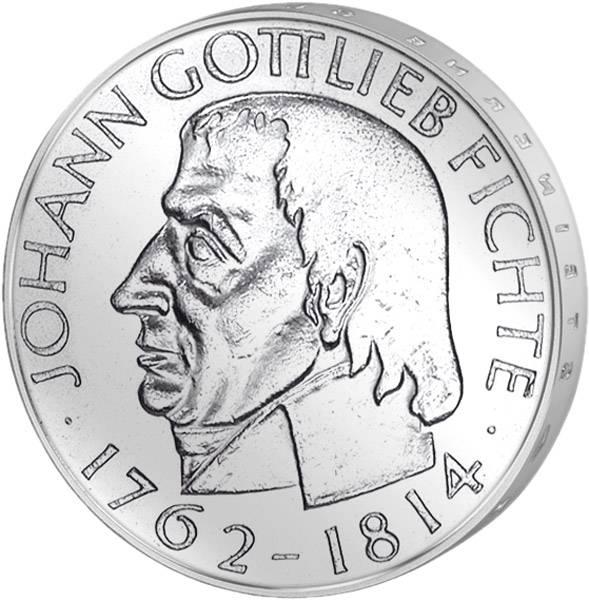 5 DM Münze BRD Johann Gottlieb Fichte 1964