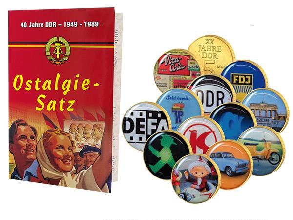 12 x 5 Mark Gedenkprägungen DDR Ostalgie-Satz