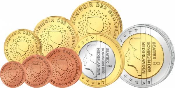 Euro-Kursmünzensatz Niederlande 1999-2013