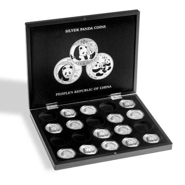 Münzkassette für 20 Silbermünzen China Panda