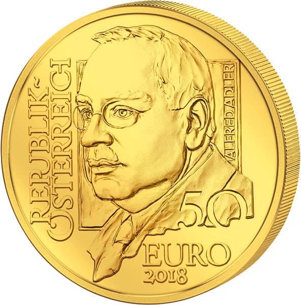 50 Euro Österreich Alfred Adler 2018