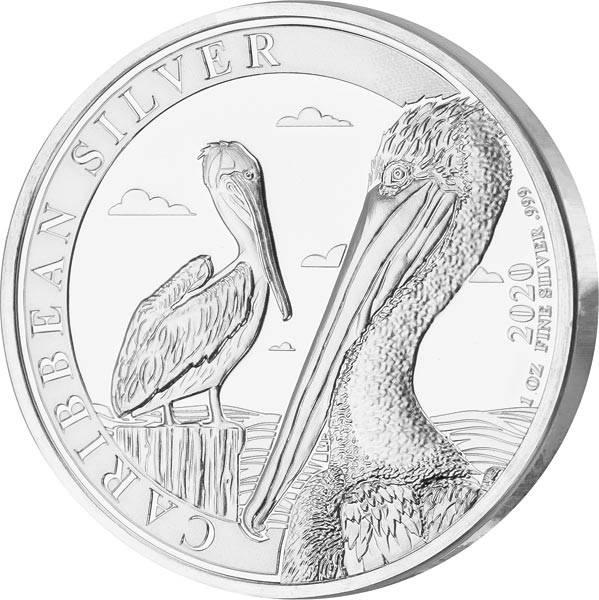 1 Unze Silber Barbados Pelikan 2020