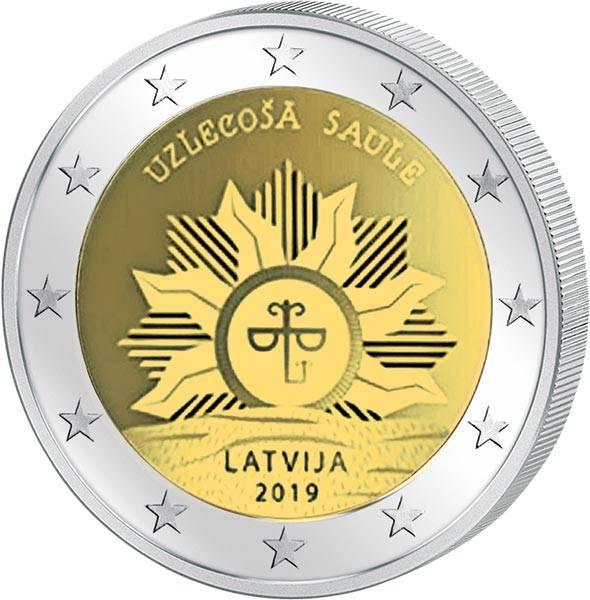 2 Euro Lettland Aufgehende Sonne 2019