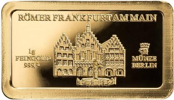 Goldbarren Deutsche Wahrzeichen Römer Frankfurt am Main