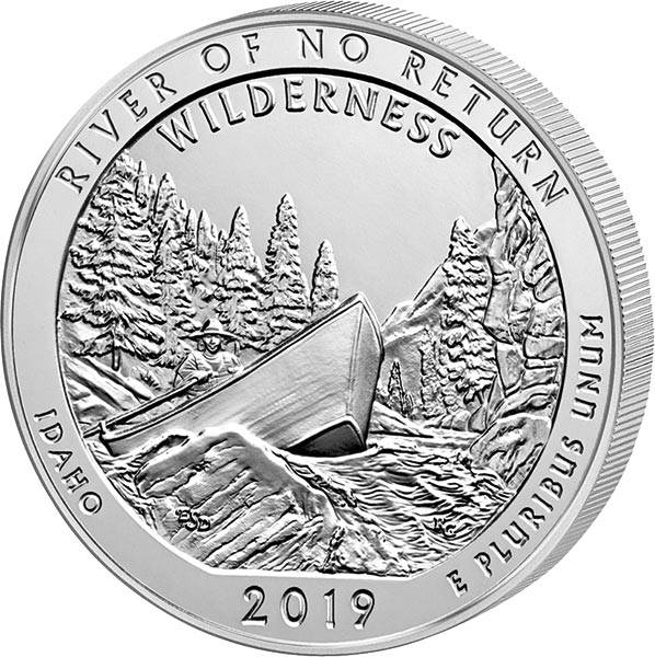 Quarter Dollar 25 Cents USA  Idaho - River of no Return 2019