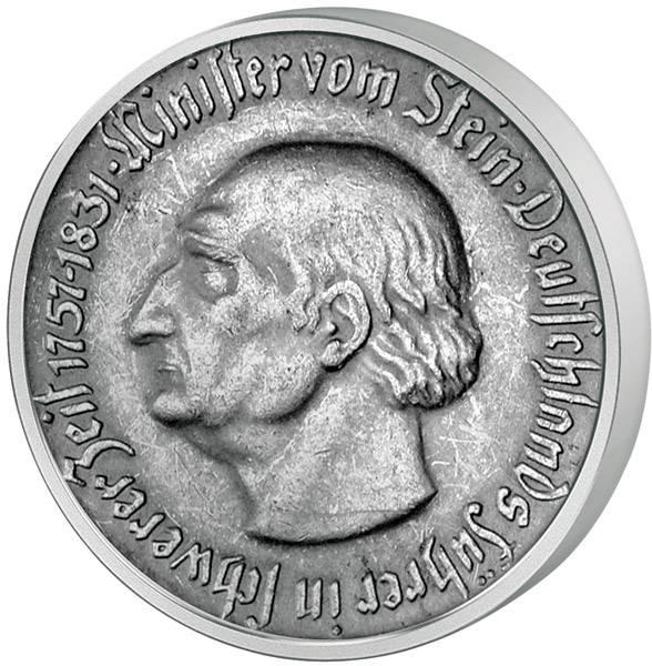 1 Mark Provinz Westfalen Minister vom Stein - Westfalenroß 1921