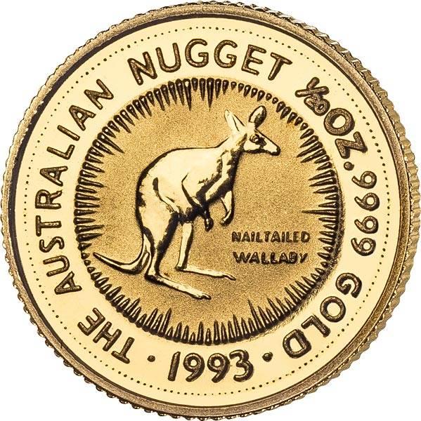 1/20 Unze Gold Australien Känguru 1993