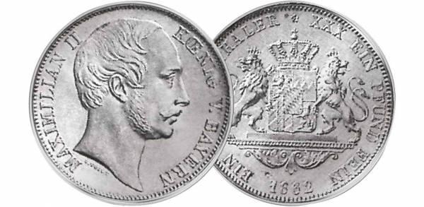 Taler Vereinstaler Maximilian II. 1857-1864  ss-vz