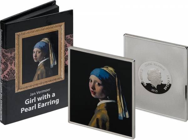 1/4 Dollar Cook-Inseln Jan Vermeer Mädchen mit Perlenohrring 2015