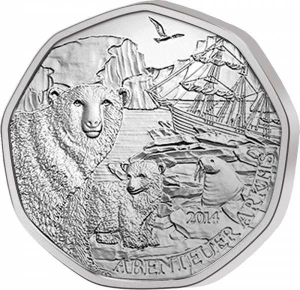5 Euro Österreich Abenteuer Arktis 2014
