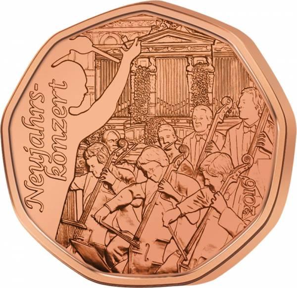 5 Euro Österreich Neujahrskonzert 2016