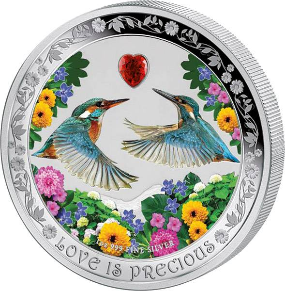 "2 Dollars Niue ""Love is Precious - Eisvogel"" 2018"