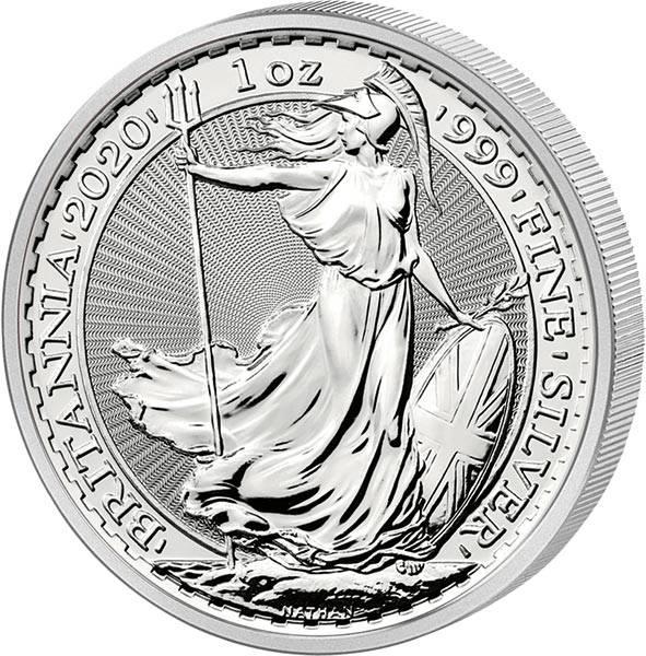 1 Unze Silber Großbritannien Britannia 2020