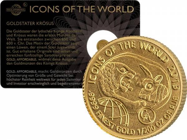1/200 Unze Gold  Ruanda Krösus 2019