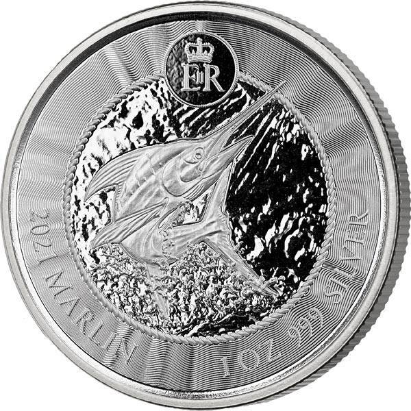 1 Unze Silber Kaiman-Inseln Marlin 2021