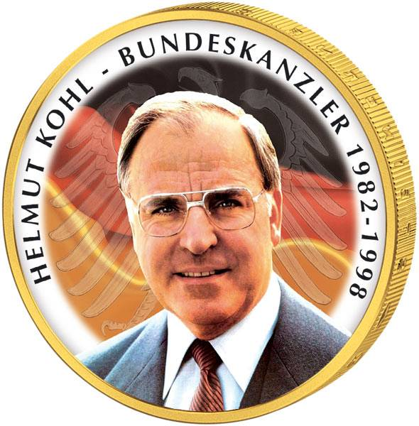 2 Euro BRD JuW mit Farb-Applikation Im Gedenken an Helmut Kohl