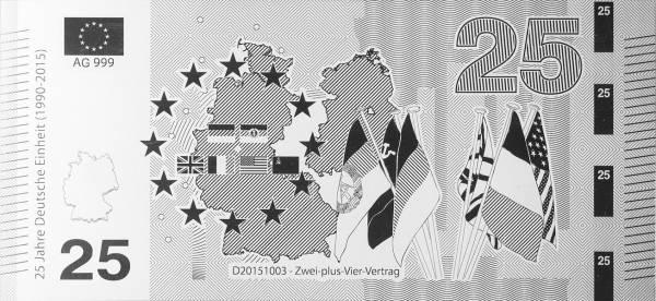 Silbernote Zwei-Plus-Vier-Vertrag